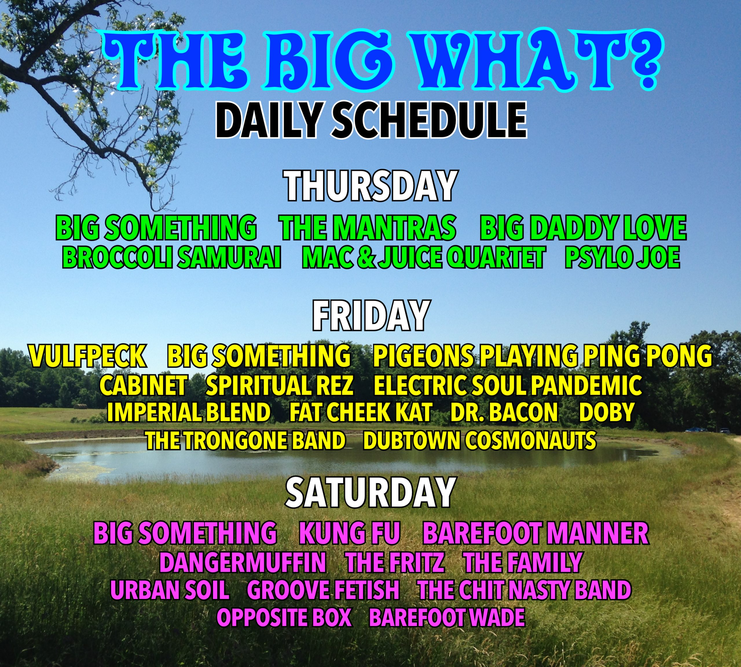 Big What Daily Lineup and Costume Contest!