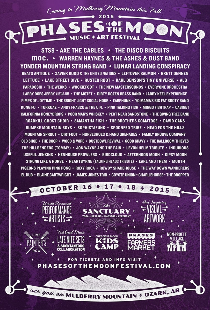 Phases of the Moon Music + Art Festival Announces Additional Artists to 2015 Lineup