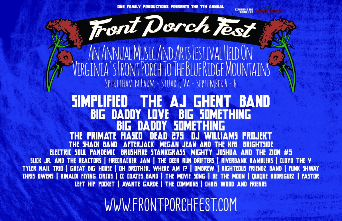 Front Porch Festival Sept 4-6 Preview