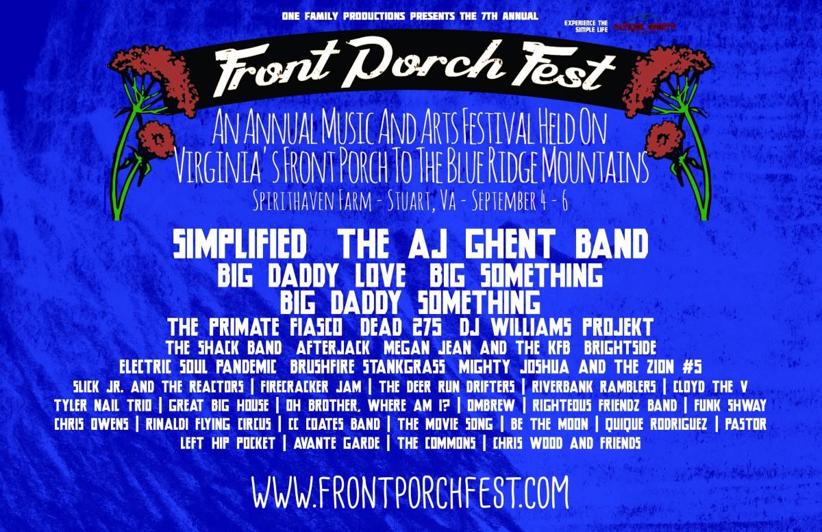 Front Porch Festival Sept 4-6 Preview