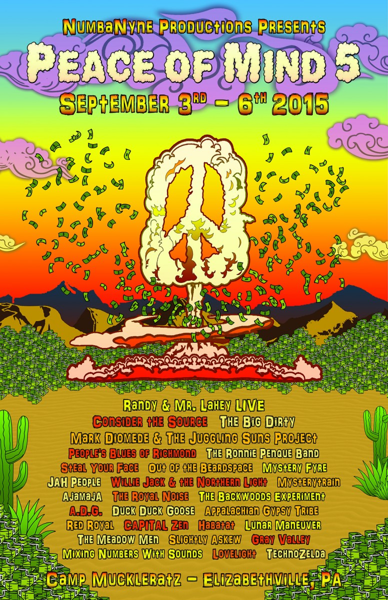 Peace of Mind Fest Sept 3-6, 2015 Preview