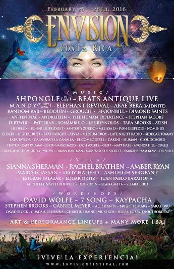 Envision Festival – Costa Rica 2016 Announces Incredible First Phase Lineup