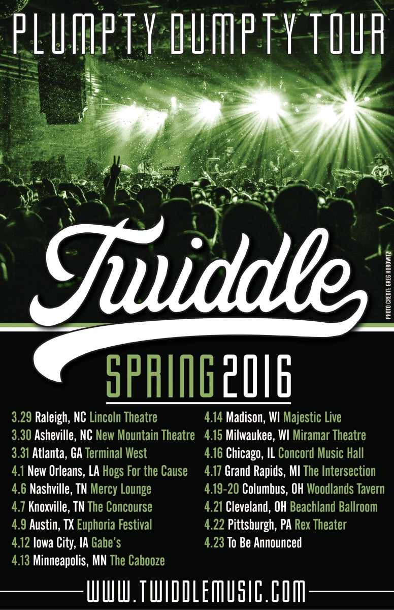 TWIDDLE ANNOUNCES HEADLINING SPRING TOUR DATES!