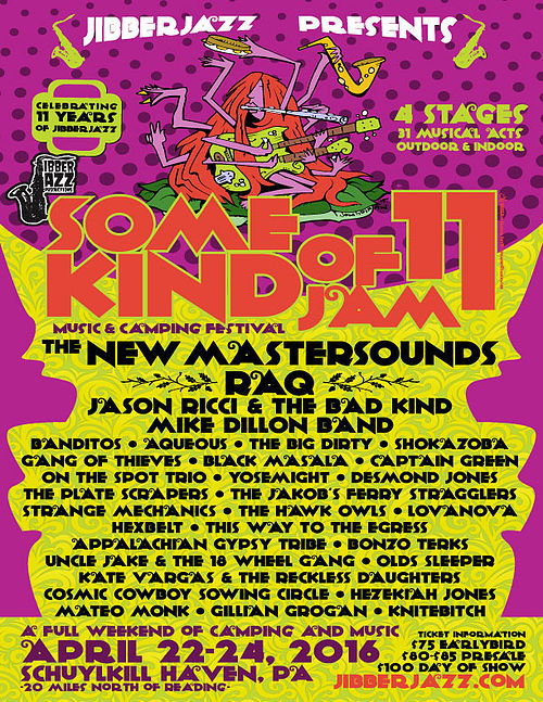 Jibberjazz Presents Some Kind of Jam 11 Preview Apr 22-24 Schuylkill Haven, PA