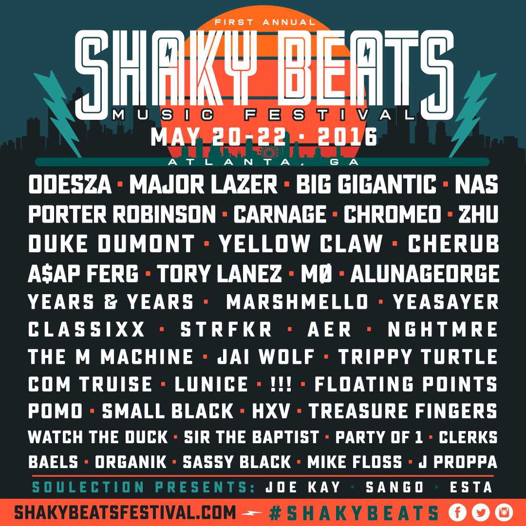 Shaky Beats Preview May 20-22, 2016 in Atlanta, GA