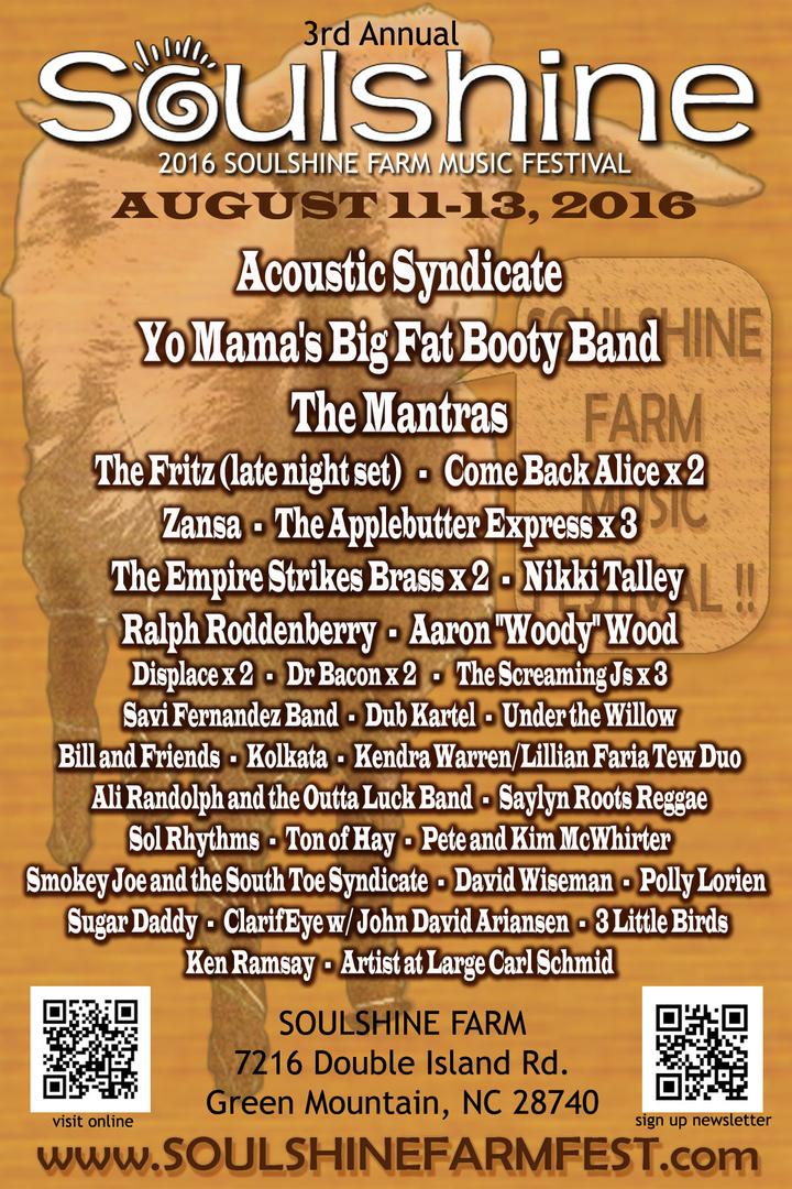 Soulshine Farm Music Festival Aug 11-13 Announces Acoustic Syndicate, The Mantras and more!