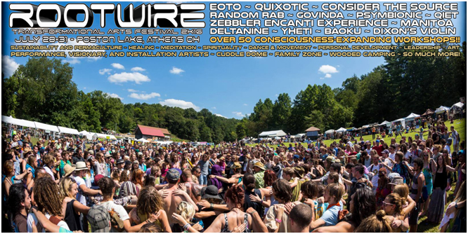 Rootwire is Back!  July 28th-31st at Poston Lake near Athens, OH