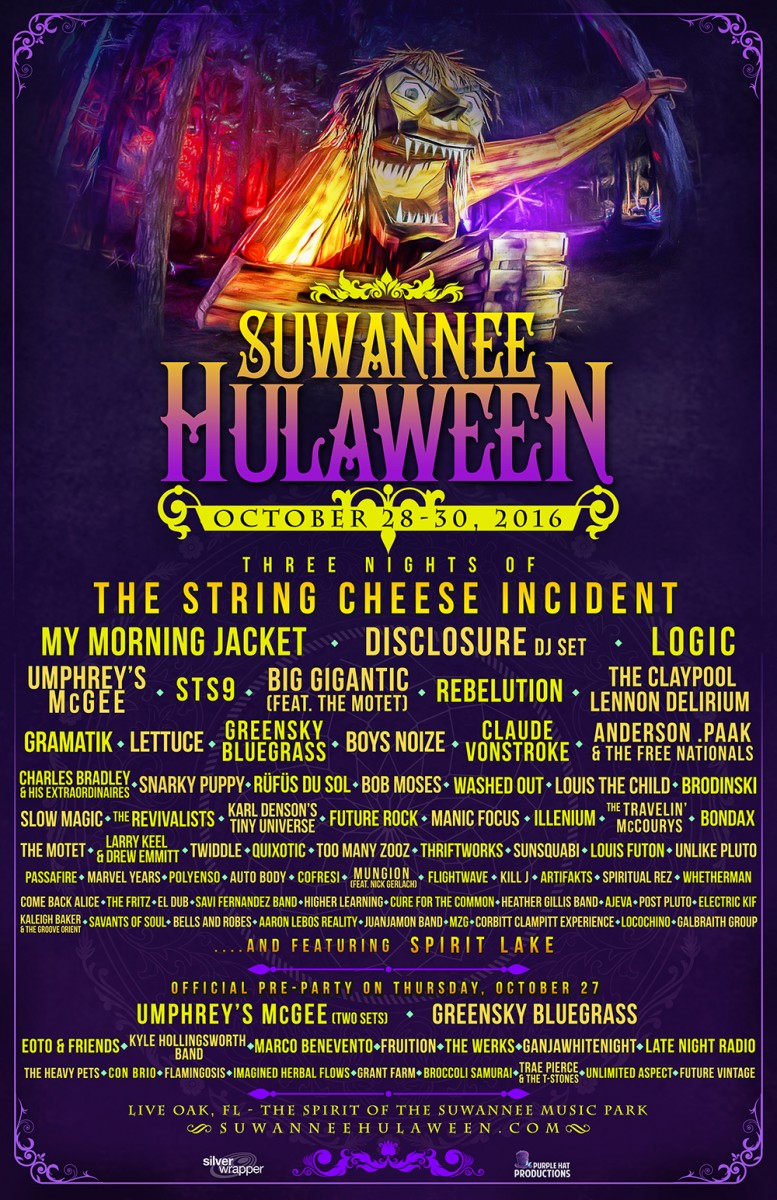 Wave Two Lineup, Pre-Party, and New Stage for 4th Annual Suwannee Hulaween