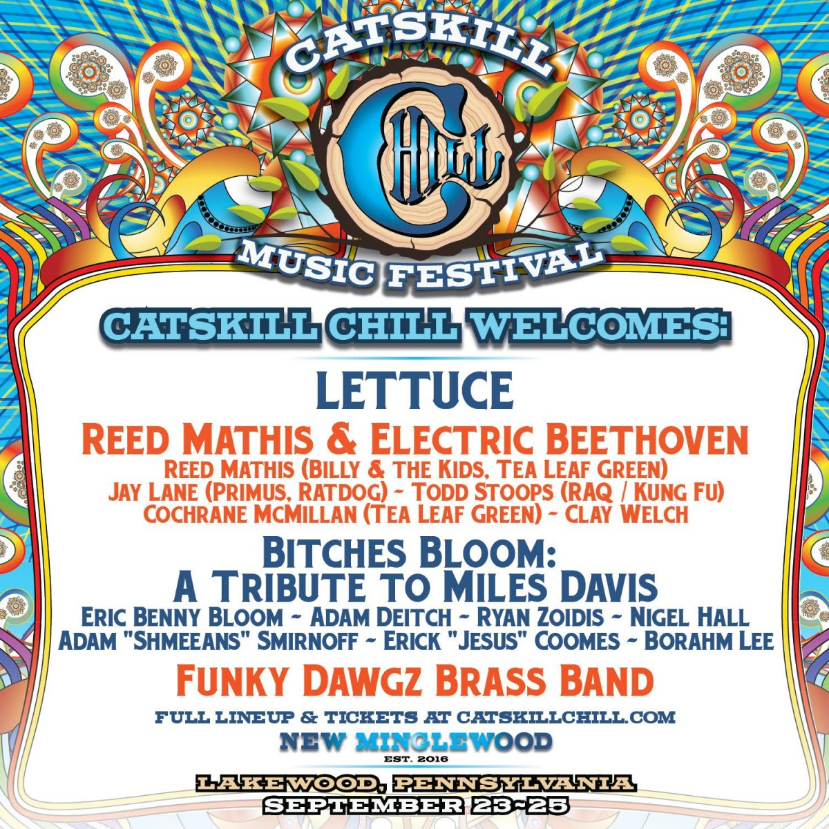 Seventh Annual Catskill Chill, Sept 23-25, Adds Lettuce & More