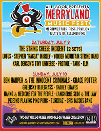 Merryland Music Festival Preview July 9th and 10th, 2016 at Merriweather Post Pavilion