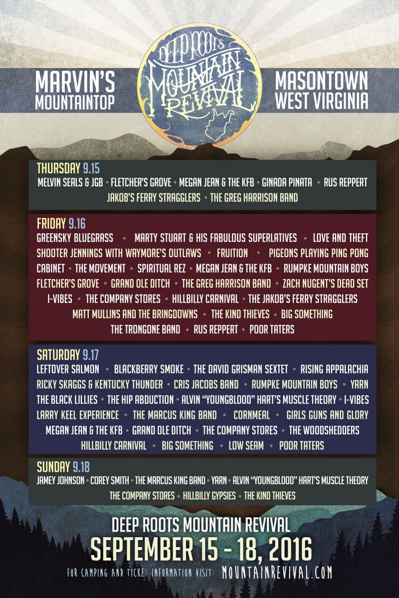 Deep Roots Mountain Revival Announces Daily Lineup!