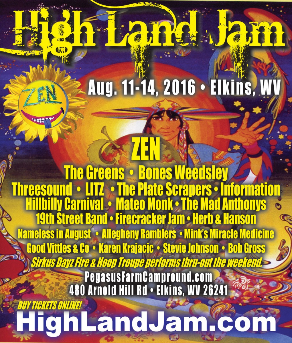 High Land Jam Preview THIS WEEKEND Aug 11-14, Elkins, WV