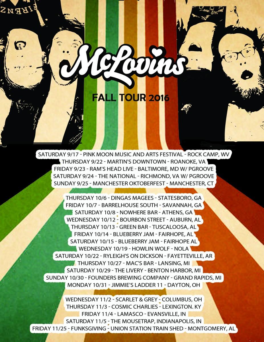 McLovins Fall Tour 2016