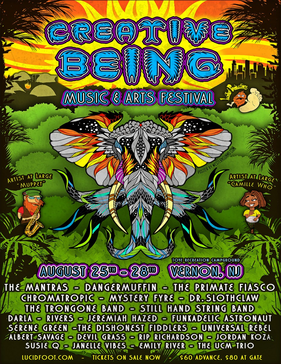 Creative Being Music & Arts Festival 2016 Preview