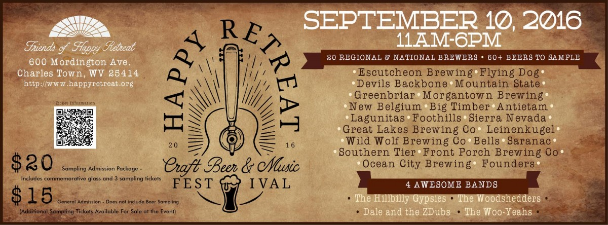 HAPPY RETREAT EXPECTING LARGE CROWD FOR FIRST ANNUAL CRAFT BEER AND MUSIC FESTIVAL