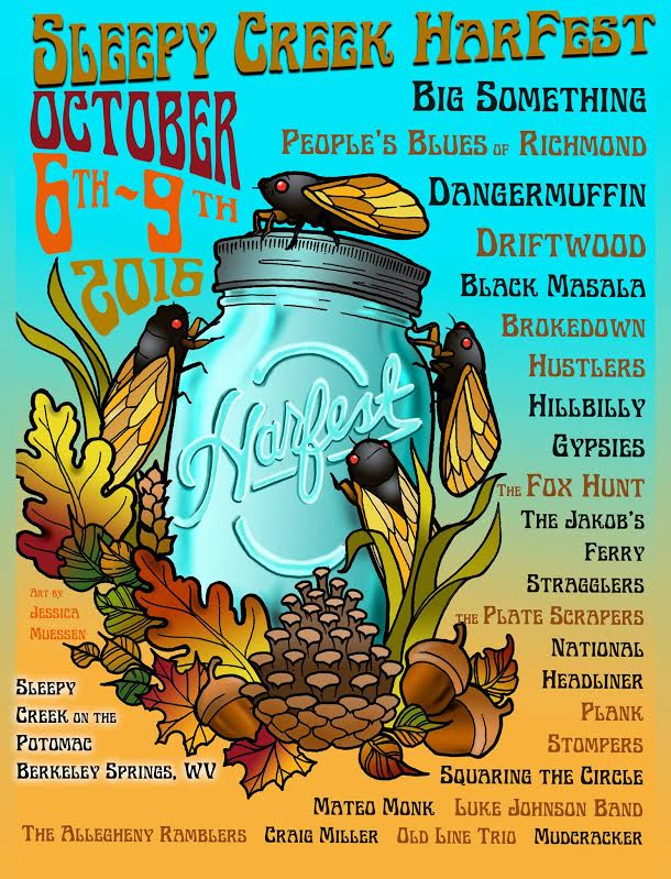Sleepy Creek Presents Harfest Preview : Oct 6-9, 2016, Berkeley Springs, WV