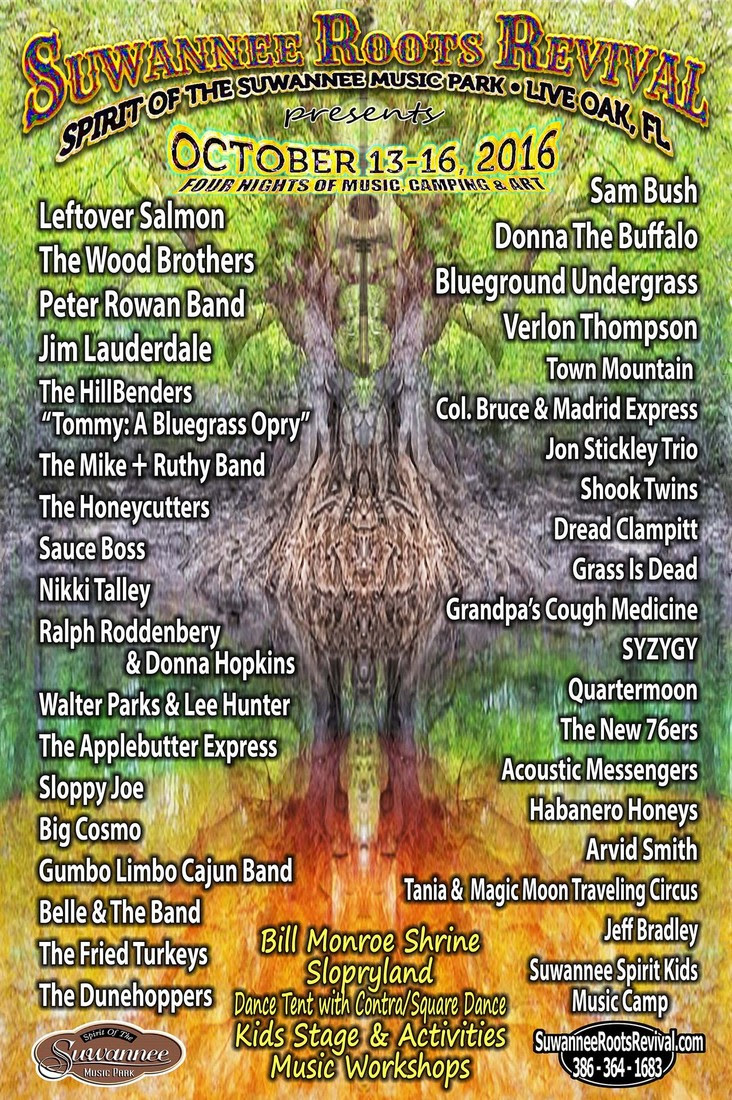 Suwannee Roots Revival Announces Final Artist Lineup