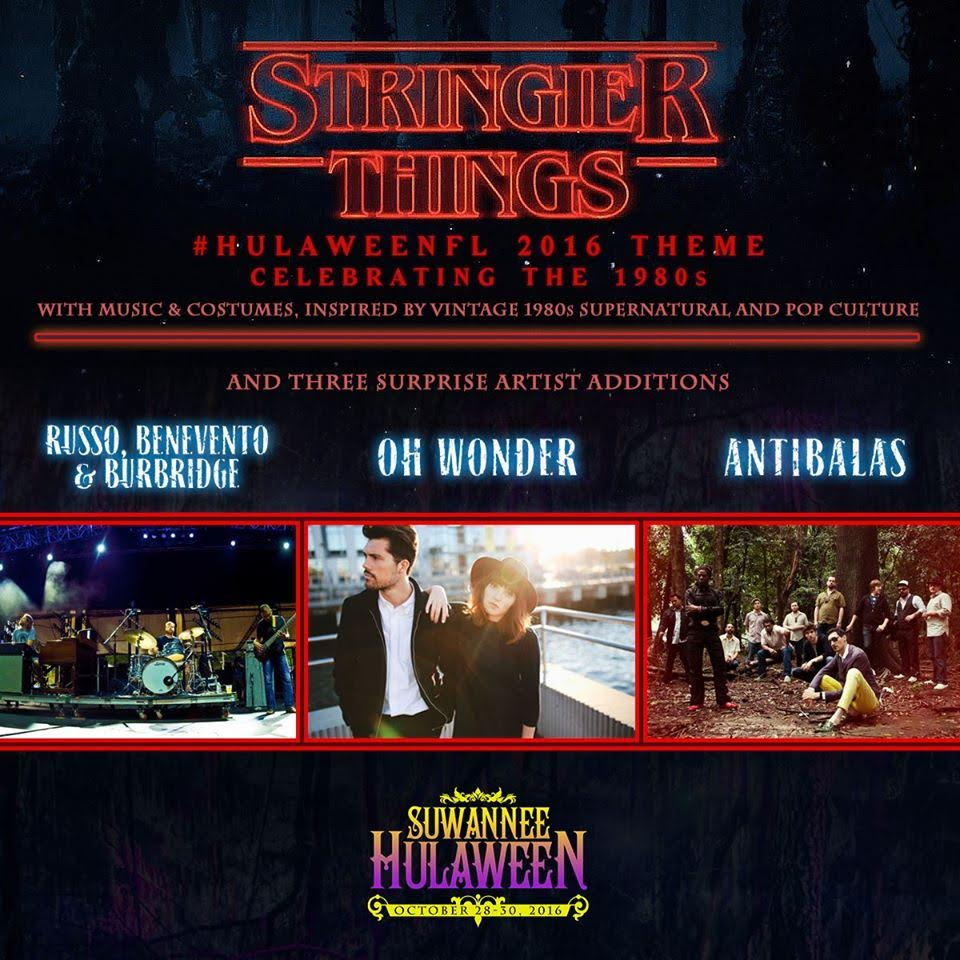 Suwannee Hulaween Oct 28-30 Announces Costume Theme and Suprise Artist Additions