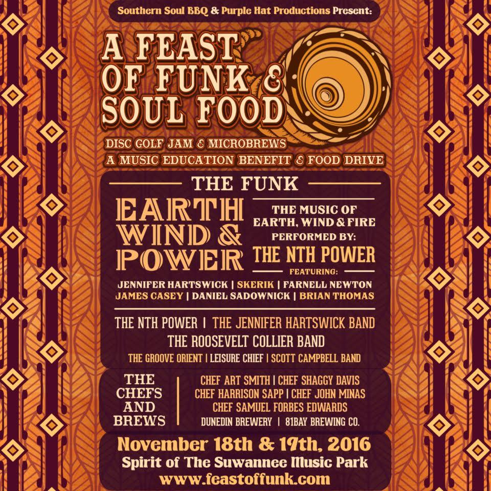 "The First Annual ""A Feast of Funk & Soul Food"" Nov 18 & 19, Suwannee Music Park"