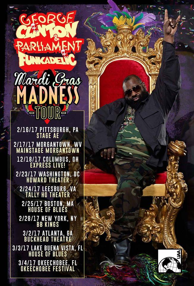 George Clinton & Parliament Funkadelic Announce Mardi Gras Madness Tour