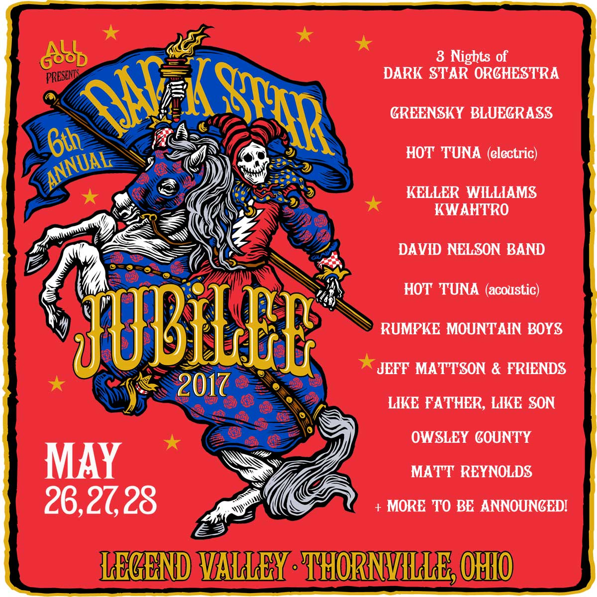 Dark Star Jubilee Set to Return to Legend Valley May 26-28