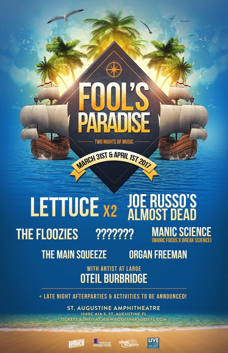FOOL'S PARADISE ANNOUNCES 2017 LINEUP