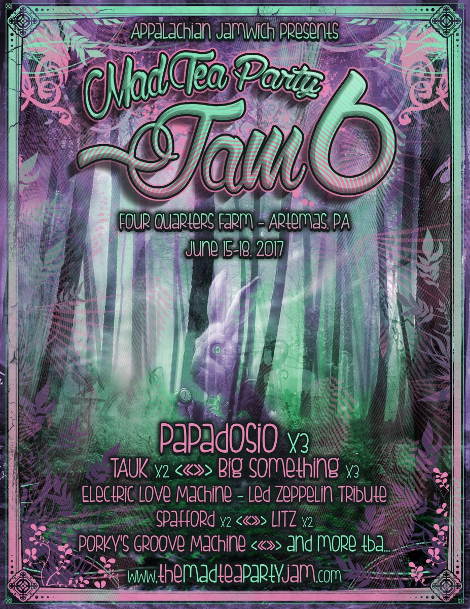 The Jamwich Presents The Mad Tea Party Jam Announces Initial Lineup