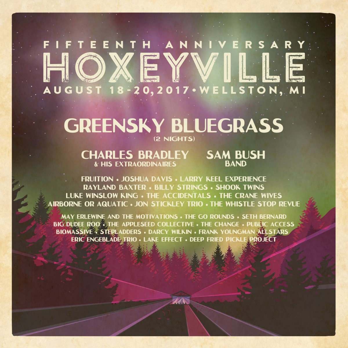 15th Annual Hoxeyville Music Festival Lineup Announcement: Greensky x2, Charles Bradley, Sam Bush Band, Larry Keel Experience & More