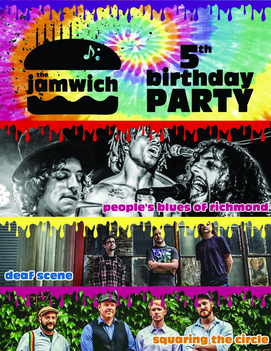 Get Excited for The Jamwich's 5th Birthday Party TONIGHT 3.29.17 with People's Blues of Richmond