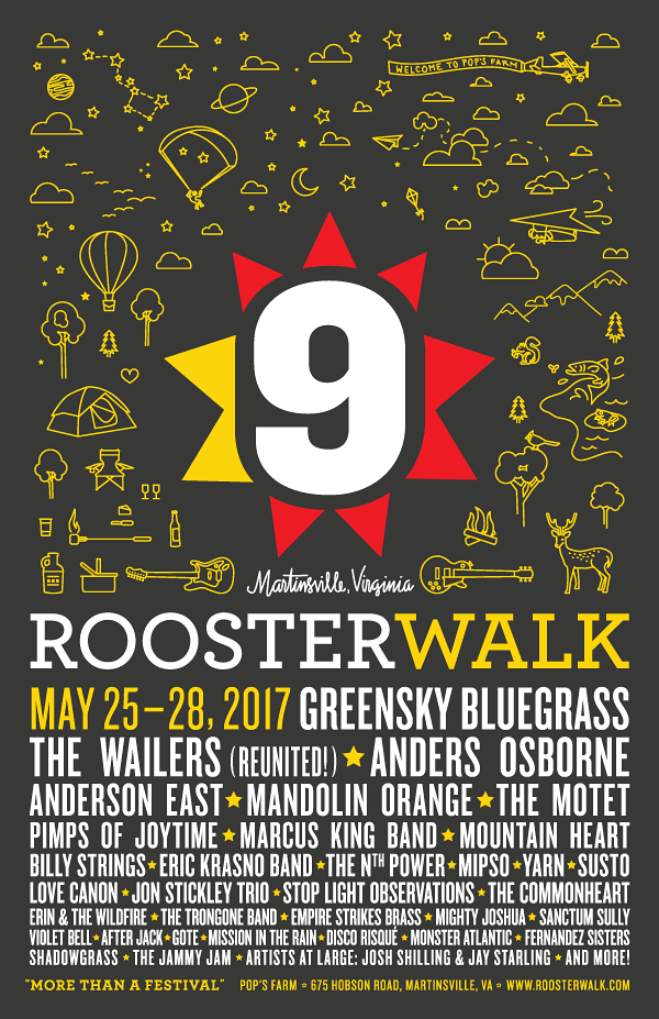 Full Lineup Announced for 9th Annual Rooster Walk Music & Arts Festival