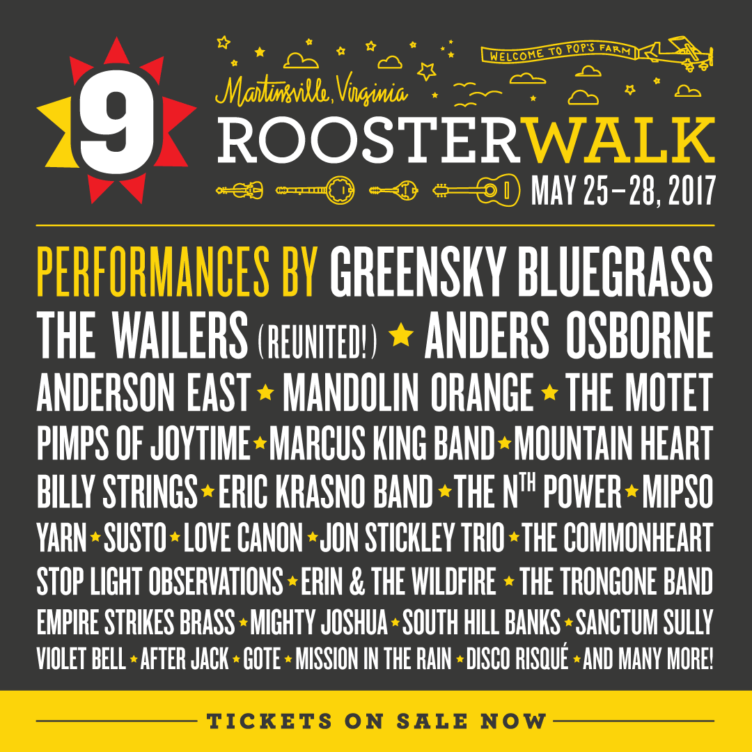 Preview: Rooster Walk Music and Arts Festival May 25-28, Martinsville, VA