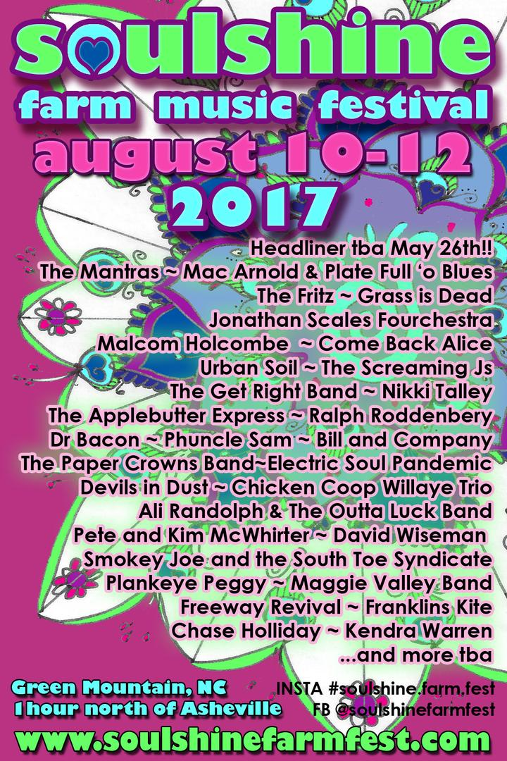 Soulshine Farm Fest Announces Stacked Lineup for 2017