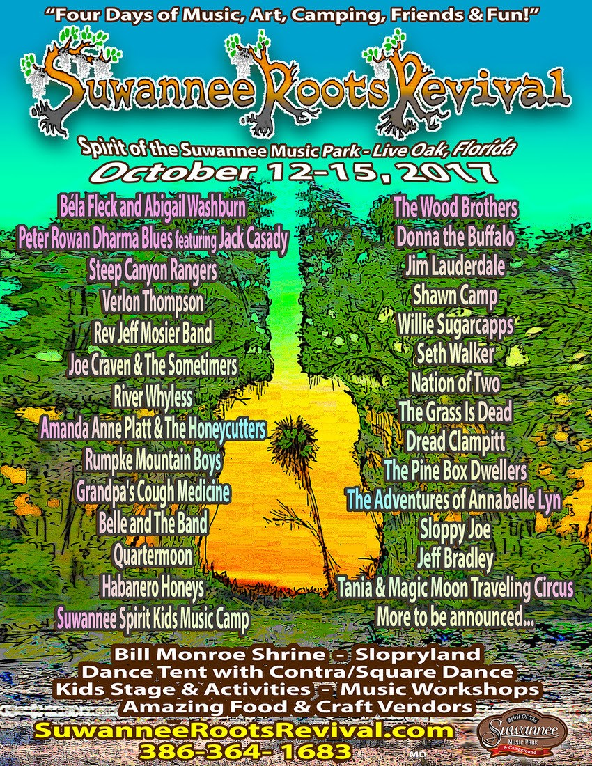 Suwannee Roots Just Announced Their Lineup – and We Couldn't Be More Excited!