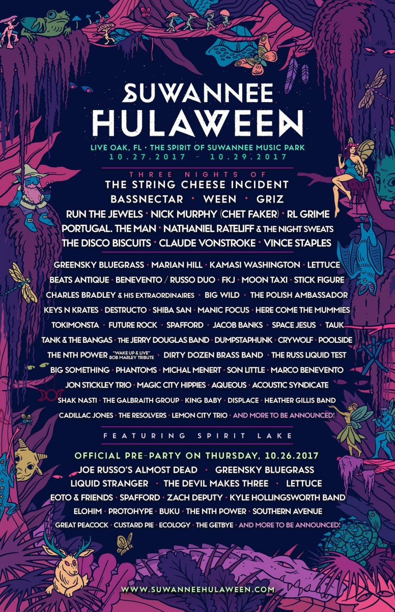 Suwannee Hulaween Announces Lineup for October 27-29, 2017