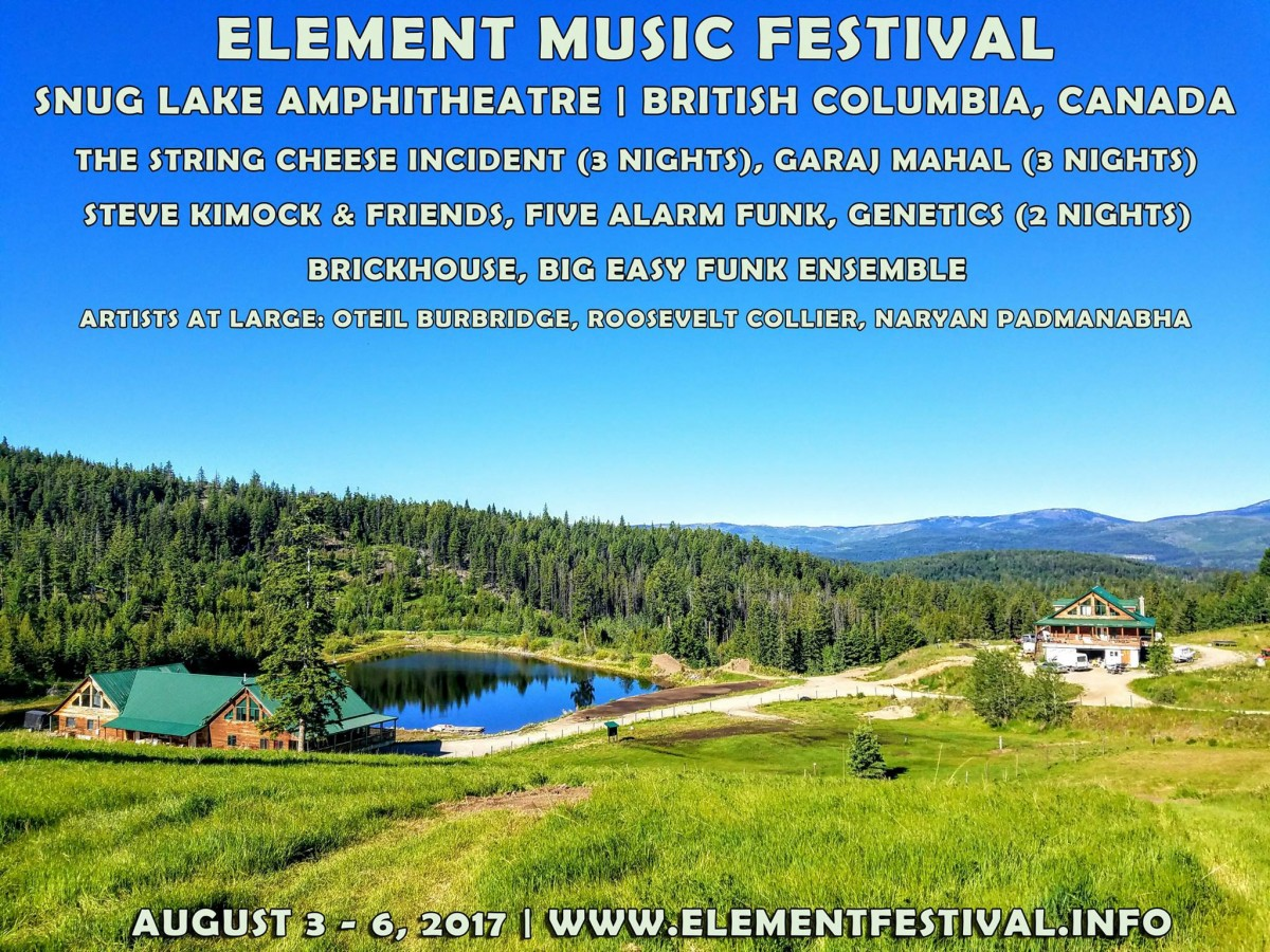 Interview with the Co-Founder of Element Music Festival Aug 3-6, 2017 in Princeton, BC