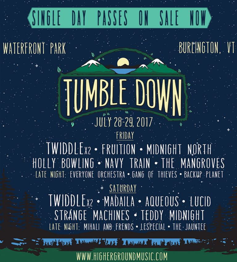 Preview: Tumble Down Festival July 28-29, 2017, Burlington, VT