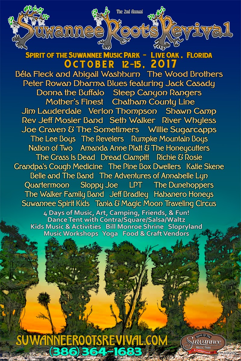 Magic in the Trees: Suwannee Roots Revival Preview – Oct 12-15, 2017