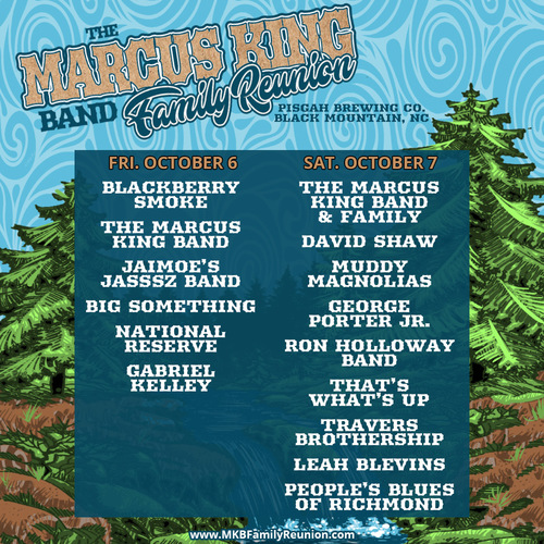 The Marcus King Band Family Reunion Announces Single Day Passes and Full Festival Lineup