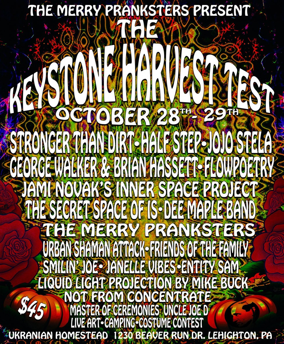 Have a Grateful Halloween Camp Out at Keystone Harvest Test Oct 28-29 at Ukranian Homestead in Lehighton, PA