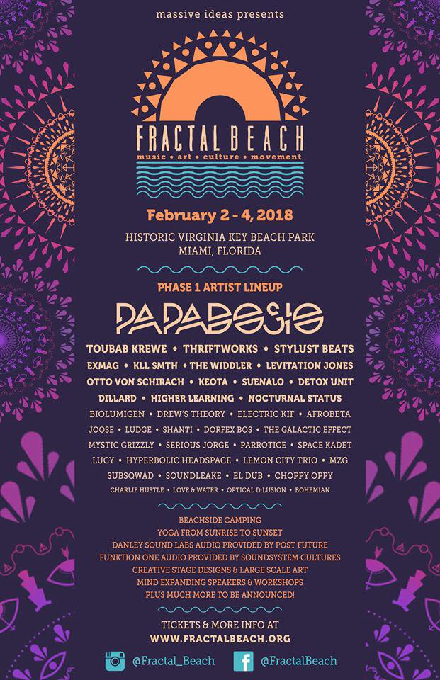Massive Ideas Announces Initial Lineup For Fractal Beach 2018