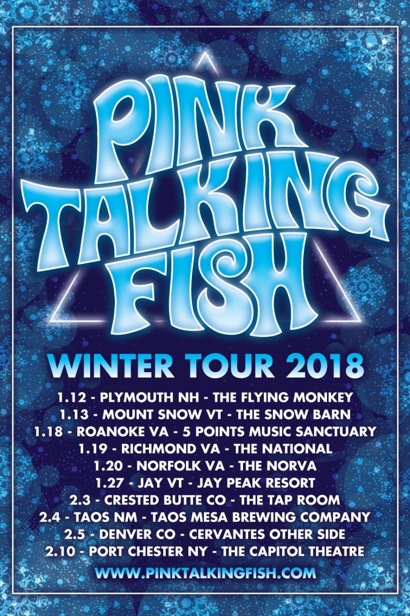 """PinkTalkingFishreleases 2018 Winter Tour including a special performance of """"The Wall"""" at The Capitol Theatre"""