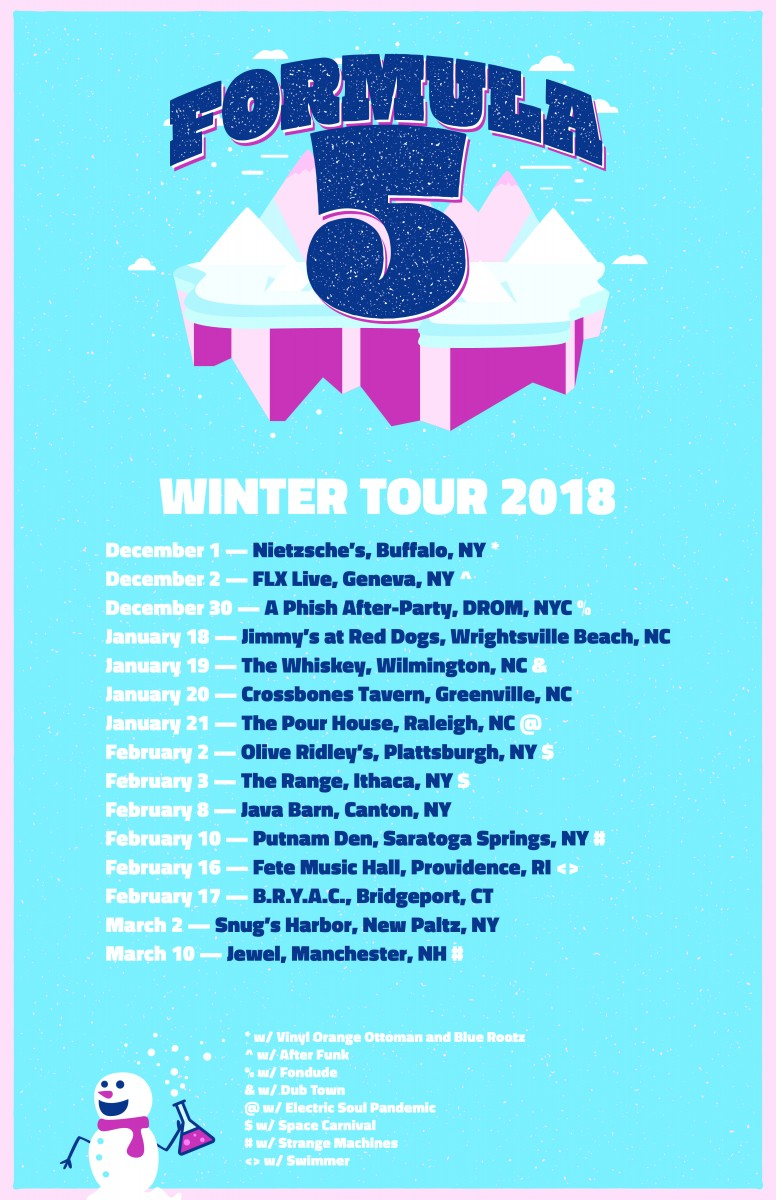 Formula 5 Announces Winter Tour 2018,  'Rock the Dock' Festival in Lake George, NY