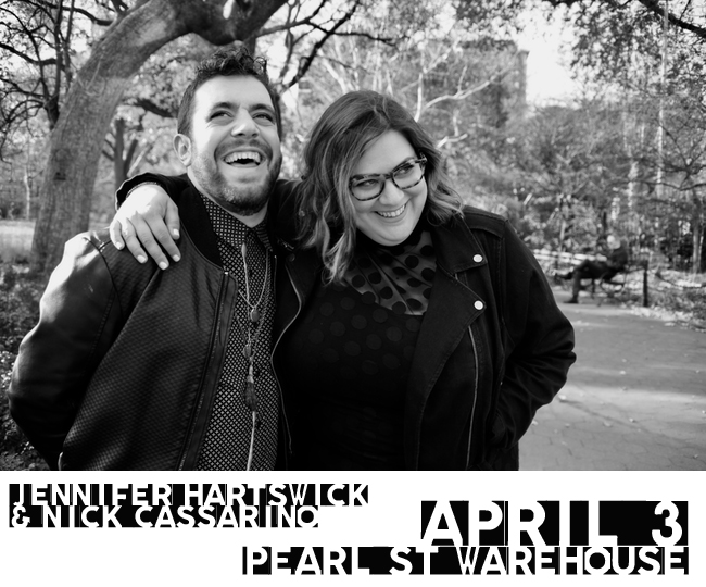 Jennifer Hartswick and Nick Cassarino – A Match Made in Jazz Heaven! – to play Pearl St. Warehouse in DC  on Tuesday April 3rd