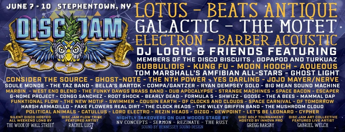 Disc Jam Music Festival Releases 2018 Lineup!