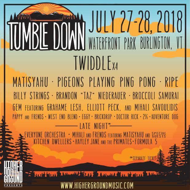Festival Preview: A Sneak Peak at Twiddle's Tumble Down July 27-28