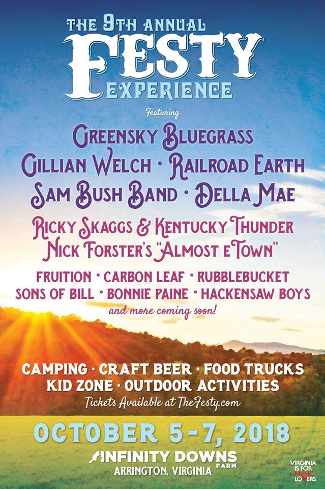What's Up Weekly – Oct 01-07 2018 – Festy Experience, Shakori Hills Fall GrassRoots, Twiddle, Lettuce & more.