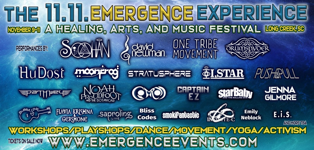 What's Up Weekly – Nov 05-11 – 11.11 Emergence Experience, DiscoGiving, Aqueous, Papadosio, Lotus & more!