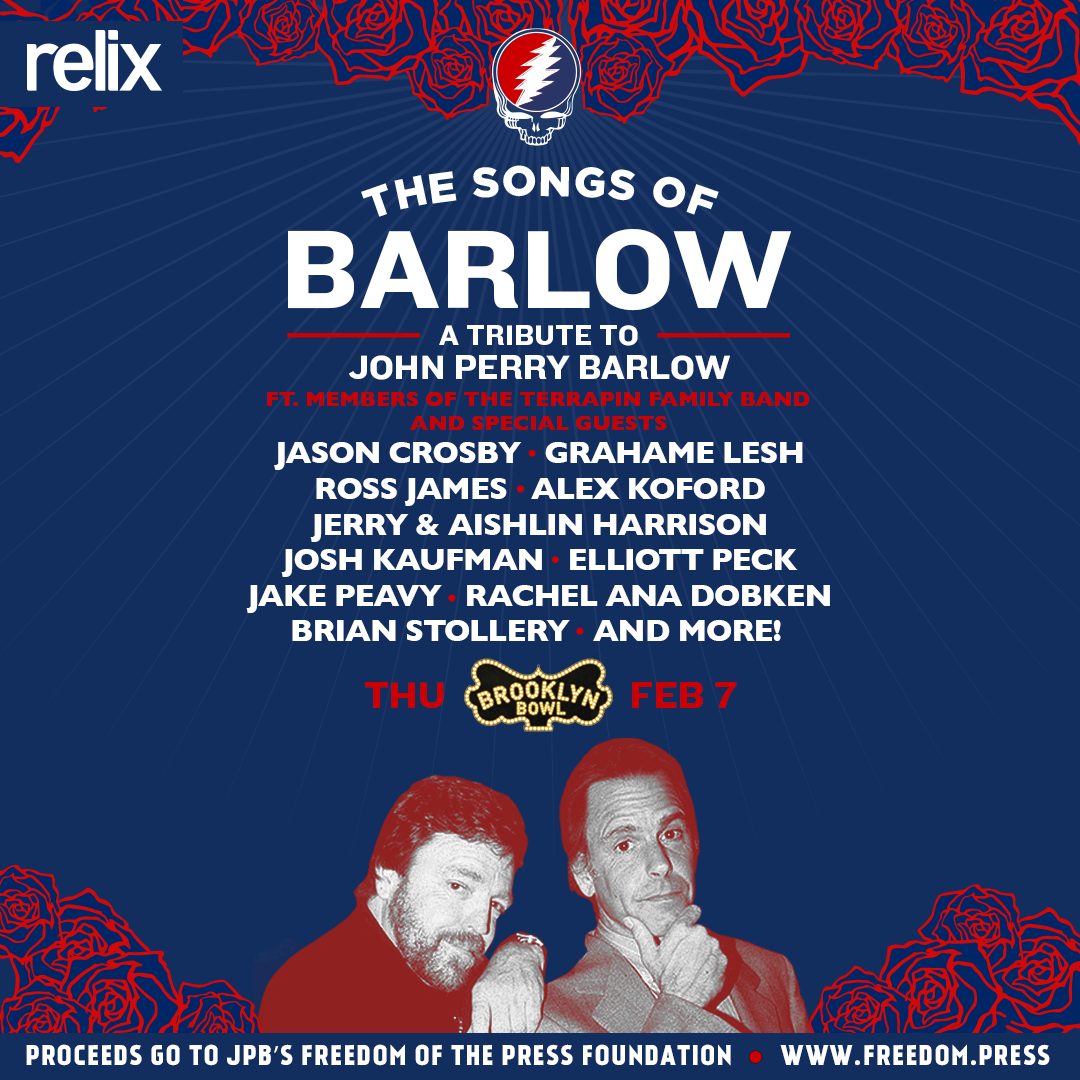 What's Up Weekly – Feb. 04-10 – The Songs of John Barlow, Spafford, Ripe, Lotus & more!