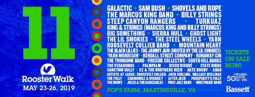 Rooster Walk 11 Announces Full Band Lineup
