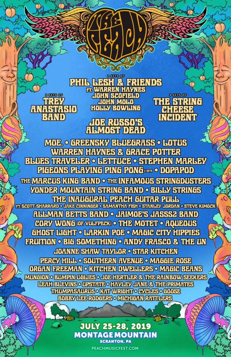 Bringing Jam Band Magic Old and New at Peach Music Festival 2019 Coming Up July 25-28